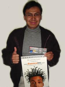 Ganadores de Entradas al Concierto de Tony Meléndez en Cuenca .- Pedro Fernando Muñoz Campos, participo y ganó una entradas al Concierto de Tony Meléndez en Cuenca