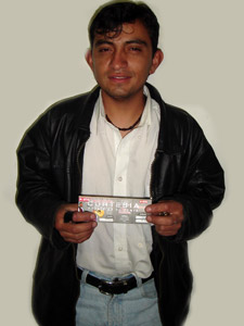 Ganadores de Entradas al Concierto de Tony Meléndez en Cuenca .- Pablo Anibal Vidal Quezada, participo y ganó una entradas al Concierto de Tony Meléndez en Cuenca