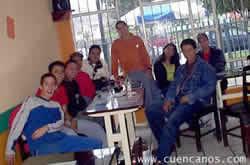 Reunión del Chat en Cuenca .- Taqueria Los Chilangos