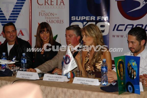 Fashion Week 2008 .- Días antes del evento se realizo la rueda de prensa con la presencia de los organizadores del Fashion Week 2008.
