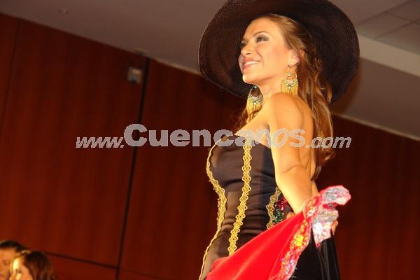 Miss Ecuador 2008, elección de traje típico .- El viernes 7 de marzo la ciudad de Cuenca fue por primera vez sede de la Elección de Traje Típico en el marco del concurso de Miss Ecuador 2008, las bellas representantes de las diferentes provincias demostraron la riqueza cultural de nuestro país.
