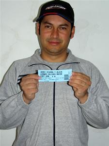 Ganadores de entradas al concierto de Alejandro Lerner y Jerry Ri