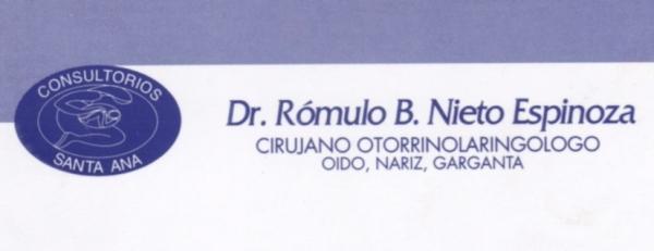Dr. Rómulo   Nieto Espinoza  Otorrinolaringólogo