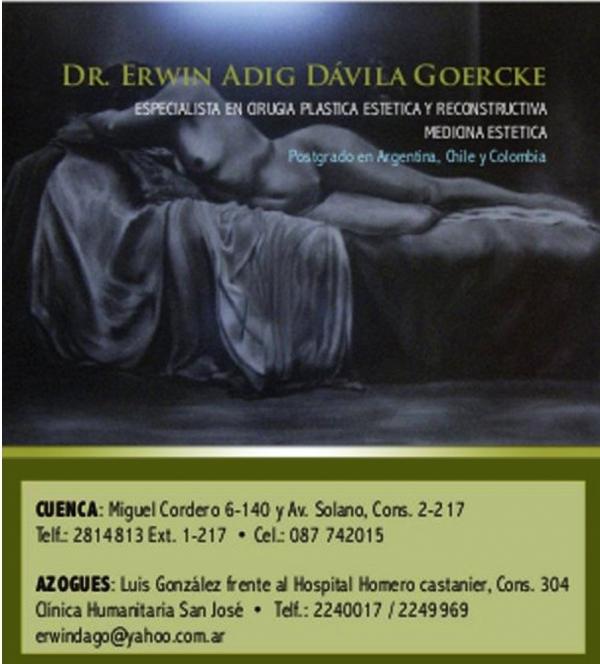 Dr. Erwin    Davila Goercke  Cirujano Plástico Facial