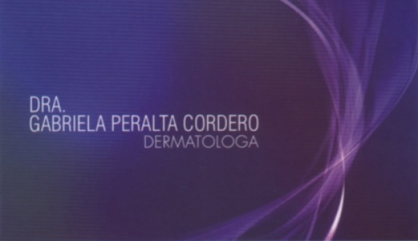 Dra. Gabriela   Peralta Cordero    Dermatóloga